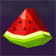 Watermelon icon in the Doubles online slot