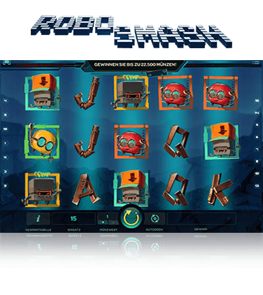 In-game action from the Robo Smash slot