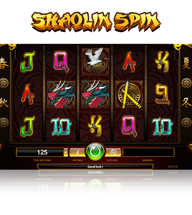 In-game action from Shaolin Spin slot