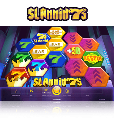 In-game action from Slammin 7s slot