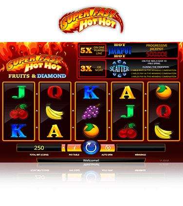 In-game action from Super Fast Hot Hot slot