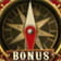 The Bonus symbol in the Treasure Island slot.