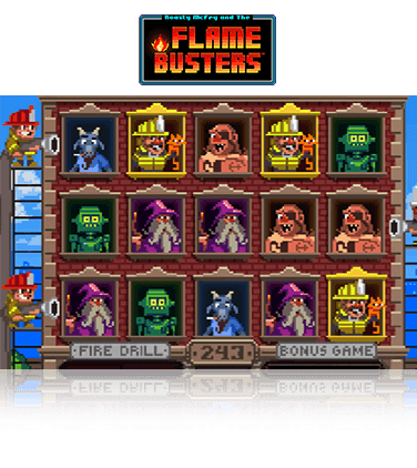 In-game view of Flame Busters slot