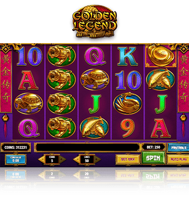 In-game view of Golden Legend slot