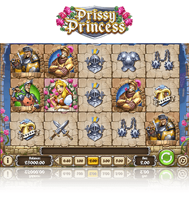 In-game view of Prissy Princess slot