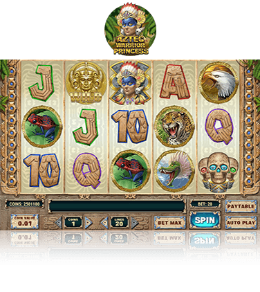 In-game view of Aztec Warrior Princess slot