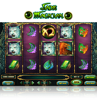 In-game view of the Jade Magician slot
