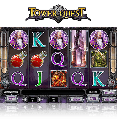 In-game view of Tower Quest slot