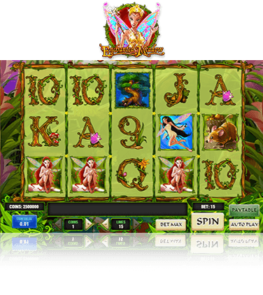 In-game view of Enchanted Meadow slot