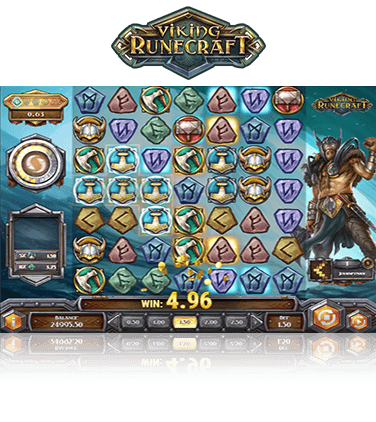 In-game view of Viking Runecraft slot