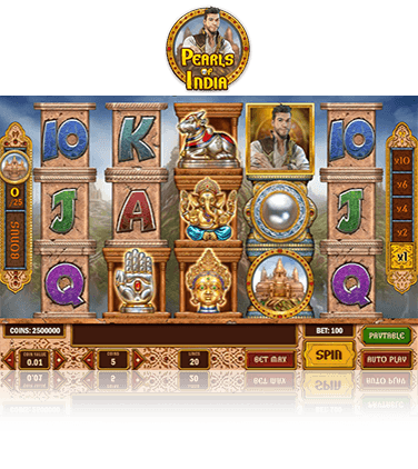 In-game view of Pearls of India slot