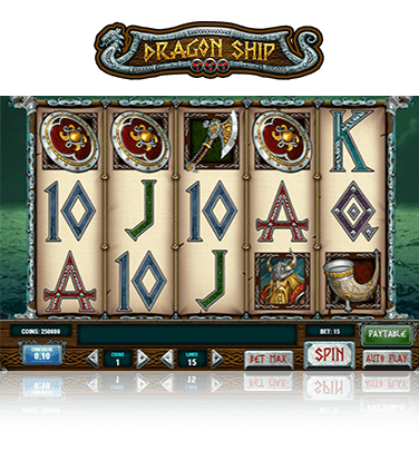 In-game view of the Dragon Ship slot
