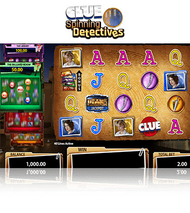 CLUEDO Spinning Detectives Slot > Play for Free + Real Money Offer!