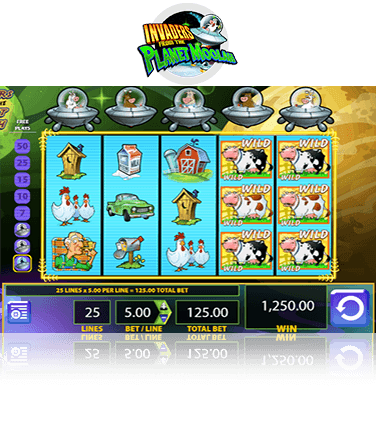 Invaders from the Planet Moolah Game