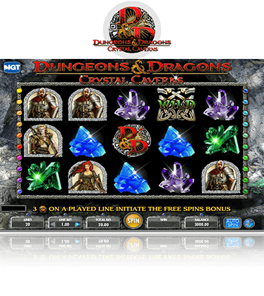 Dungeons & Dragons Crystal Caverns Game
