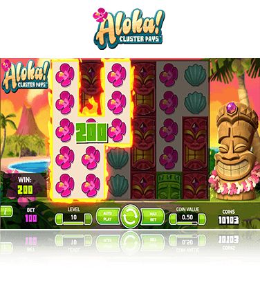 Aloha! Cluster Pays game