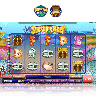 Sunshine Reef Slots - Free to Play Demo Version