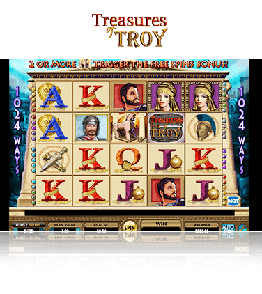 IGT Treasures of Troy Game