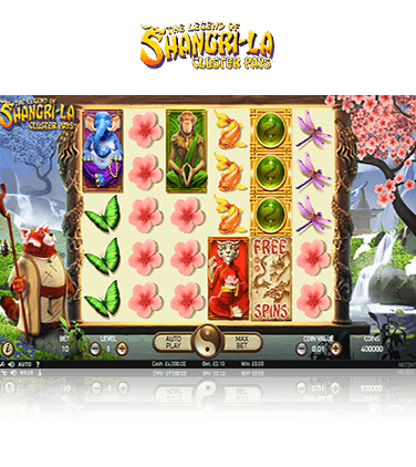 The Legend of Shangri La  Cluster Pays Game
