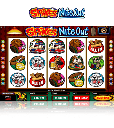 Spike's Nite Out Slot Game